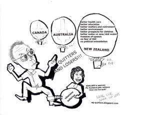 Goh Chok Tong -Quitters and Losers (cartoon)