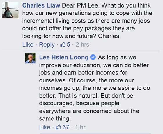 LHL's Facebook chat reveals an out-of-touch PM
