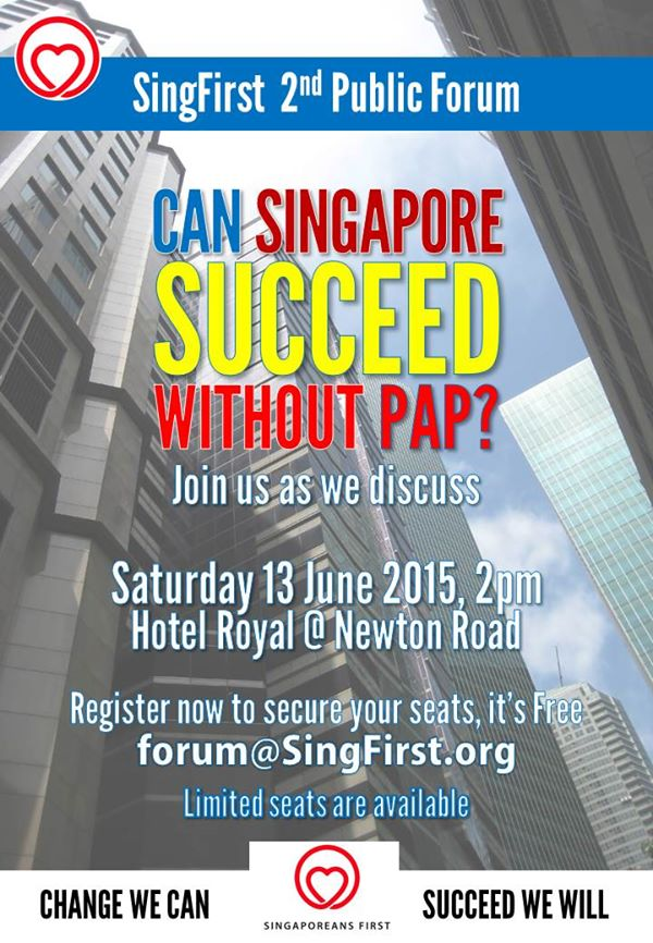 Event: Can Singapore succeed without PAP?