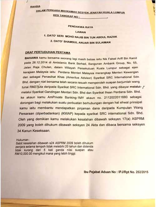 Najib's arrest warrant the reason AG was fired