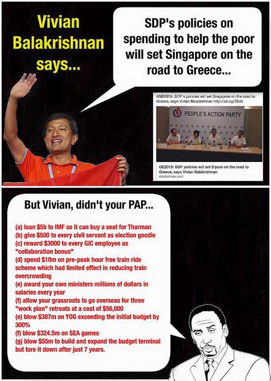 Vivian Balakrishnan is now a financial expert