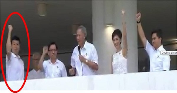 PAP candidate's clenched fist gesture causes offence