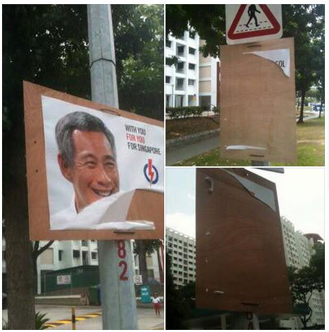 PAP posters vandalised along Sengkang East Way