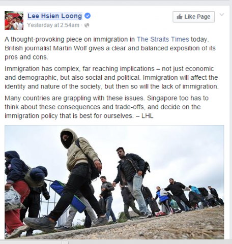 LHL on immigration