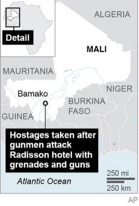 Islamic extremists attack hotel in Mali's capital