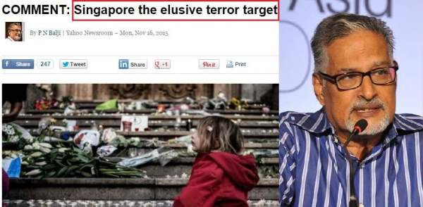 Ex-Today editor inviting ISIS terror to Singapore?