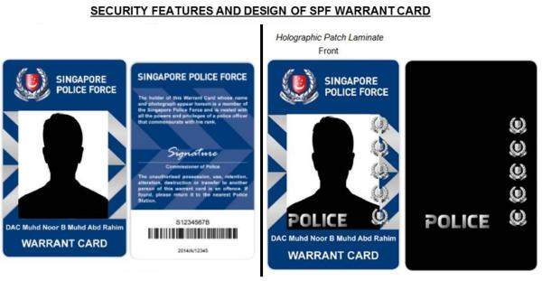 New Warrant Card for Police Officers wef 1st march 2016