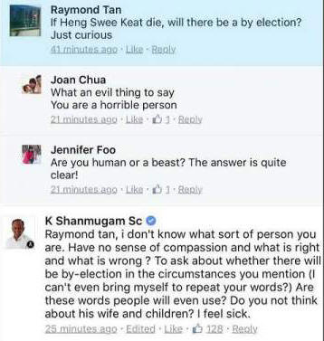 The initial question on by-election by Raymond Tan...