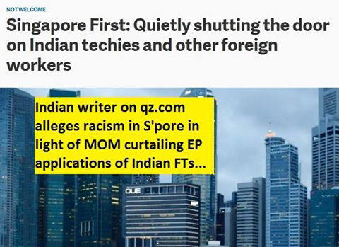 Indian writer alleges racism in S'pore in light of...
