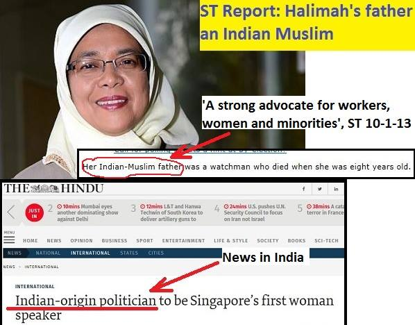 ST report: Halimah's father an Indian Muslim