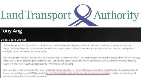 LTA outsourced projects to company owned by advisors