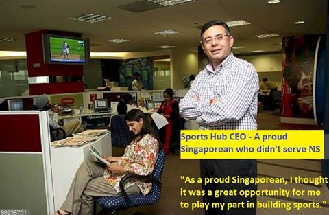 Sports Hub CEO: A proud S'porean who didn't serve NS