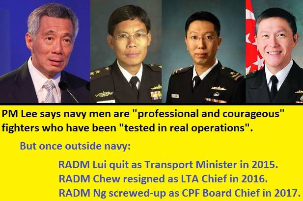 Navy men are professional and courageous fighters but outside of navy, they screw-up and quit?