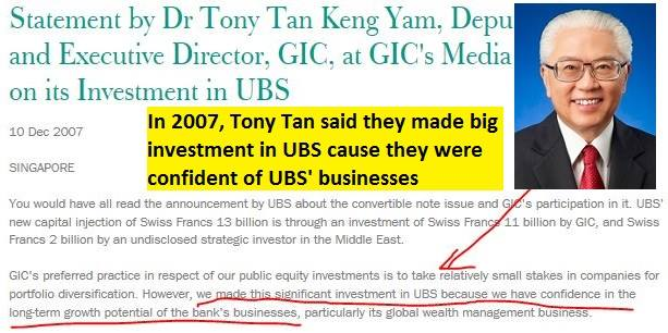 Tony Tan confident in UBS' long-term growth potential but GIC endedup losing US$4b of our reserves