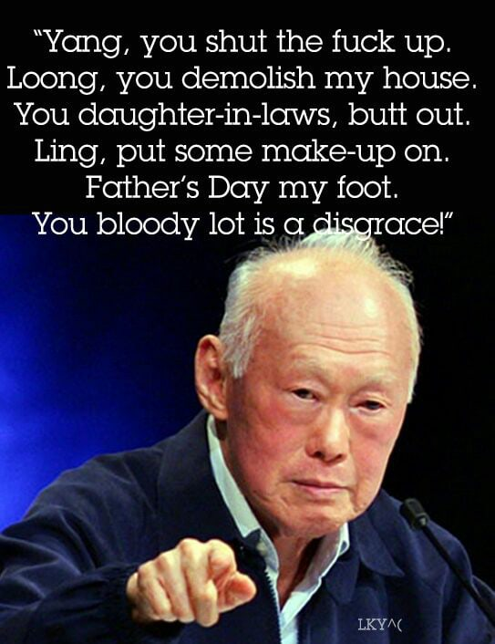 The late Lee Kuan Yew's belated Father's Day message...