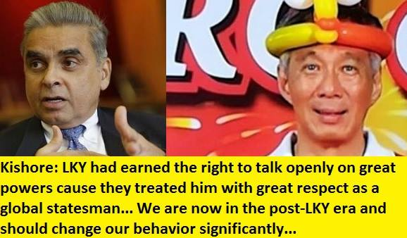 Kishorea alludes that PM Lee is no global statesman like LKY