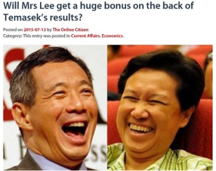 Temasek CEO Ho Ching has earned hundreds of million$...
