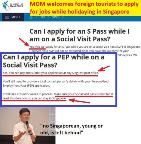 S'pore may be the only 1st world country to allow tourists to look for jobs and stay immediately when they find one