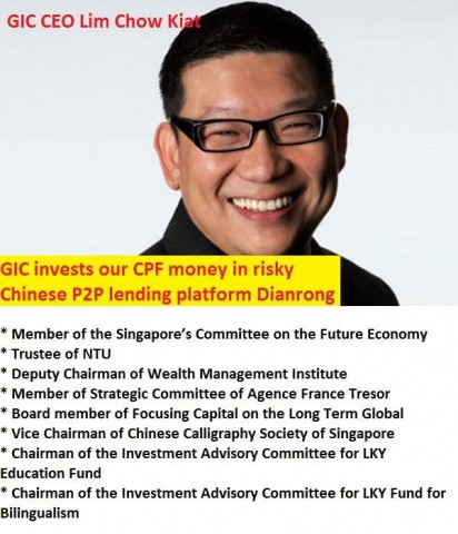 GIC invests our CPF money in risky Chinese P2P lending platform