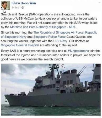 Warship incident addressed but SMRT?