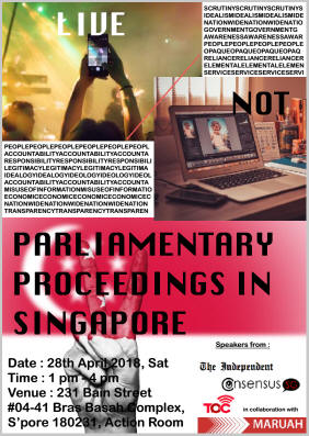 Public Forum on Parliamentary Proceedings in Singapore: Live/Not-live