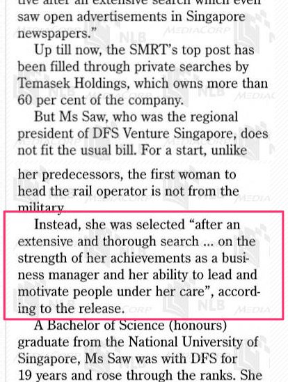 Is there a world of difference in the way that SMRT's last 3 CEOs were selected?