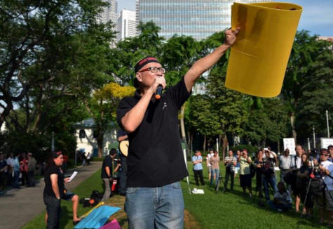Social activist Gilbert Goh organises protest against...