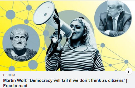Democracy will fail if we do not think as a citizen