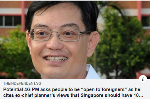 DPM Heng Swee Keat was at least open and sympathetic to an eventual 10 million population in Singapore