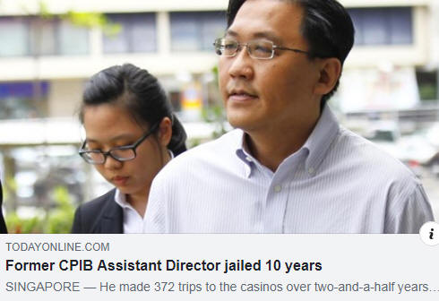 Former CPIB Assistant Director jailed 10 years