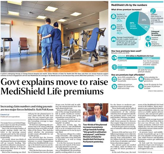 Ageing population and increasing cost of medical care are not reasons to increase premiums
