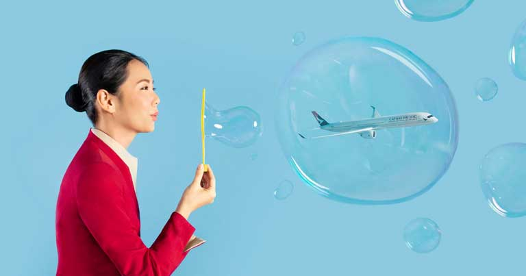 Hongkong and Singapore's two way Air Travel Bubble...